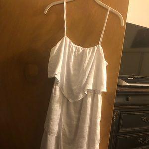 Banana Republic White Handkerchief Dress